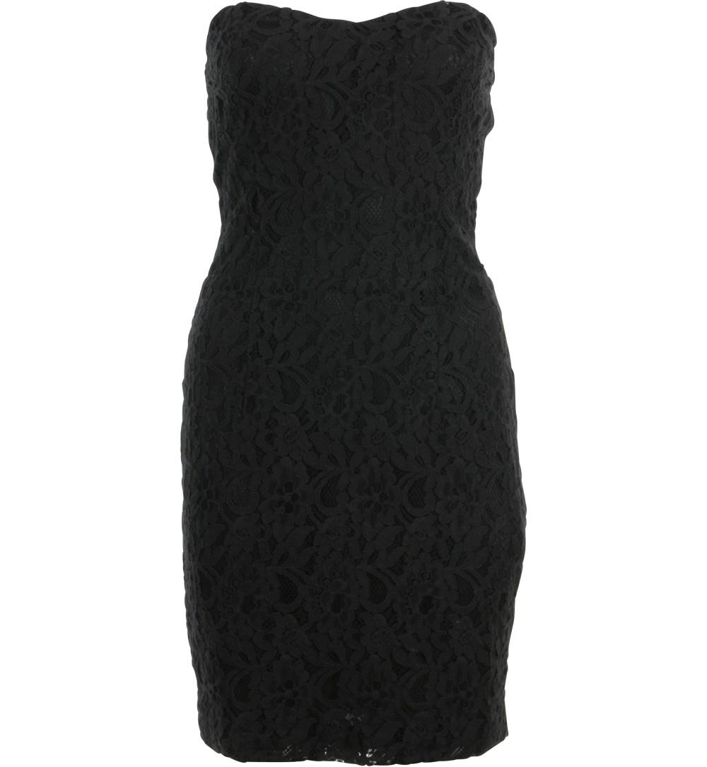 robe bustier en dentelle noire - robes Jennyfer