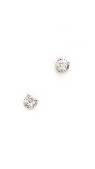 clear earrings stud earrings gold white jewels