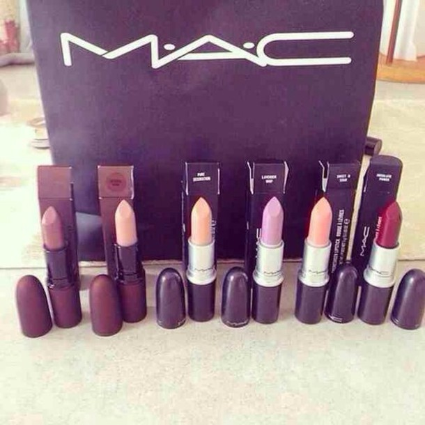 make-up mac cosmetics make-up beautiful mac lipstick