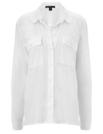 shirt white cotton silk top