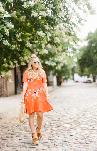 living in colorprint blogger dress shoes hat bag sunglasses