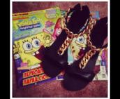 shoes,sandals,summer,black shoes,gold