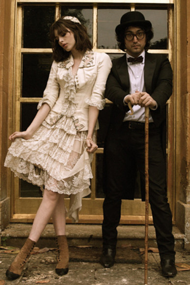 dress shoes lace dress Sean Lennon Charlotte Kemp Muhl