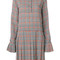 Msgm - pleated plaid dress - women - polyester - 40, polyester