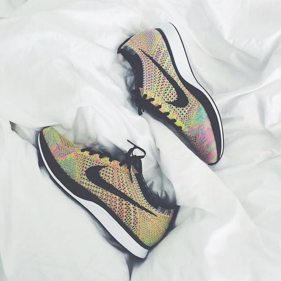 shoes nike rainbow knit sneakers nike flyknit
