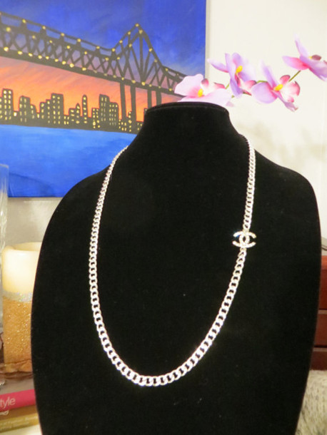 jewels etsy chanel layering necklace chain jewelry