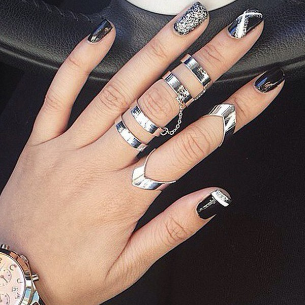 jewels jewel cult knuckle ring mid finger ring ring pointed ring jewelry midi rings hand jewelry mid rings knuckle ring ring sets