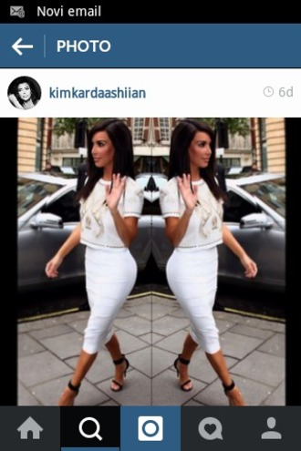 kim kardashian white crop tops bodycon skirt pencil skirt white skirt