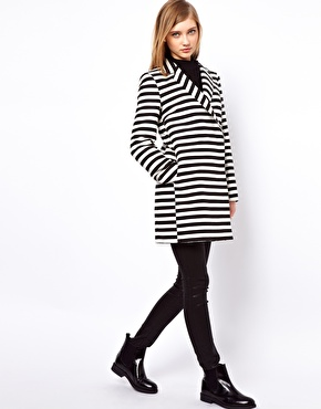 ASOS | ASOS Stripe Ovoid Coat at ASOS