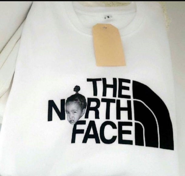 a033361057a shirt, north west, the north face shirt, north face, kanye west ...