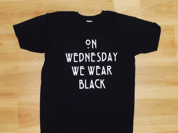 Wednesday We wear Black T-shirt, We wear Black Shirt, American ...