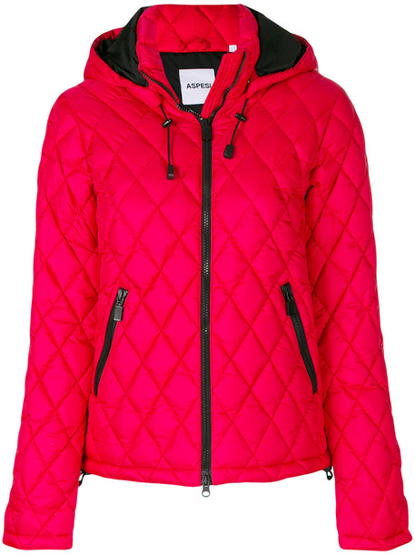 ASPESI jacket women quilted red