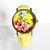 Floral Watch, Vintage Style Leather Watch, Women Watches, Boyfriend Watch, Yellow