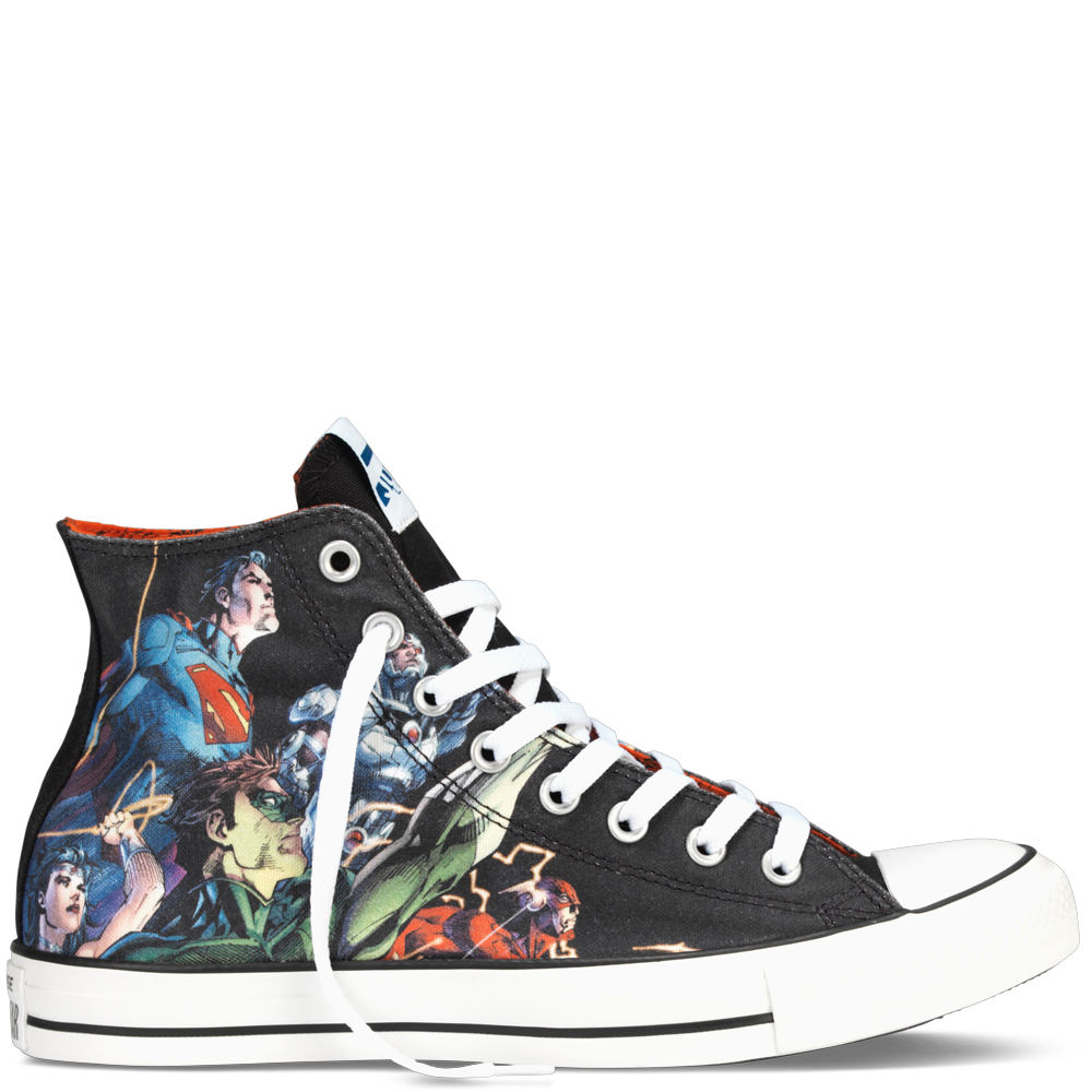 Converse chuck taylor dc comics justice league black multi hi top
