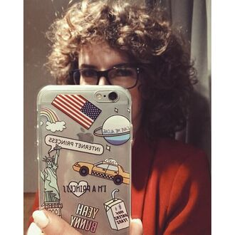 phone cover yeah bunny clear cute american flag nasa leave me alone alone america princess iphone cover iphone case iphone