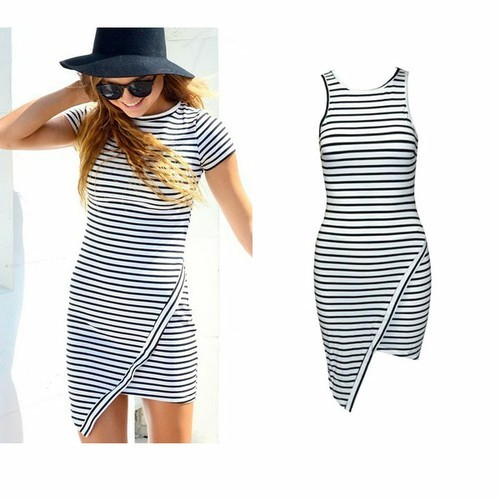 Striped summer night dress  / big momma thang