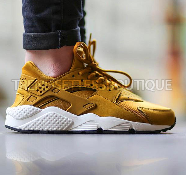 NIKE HUARACHE GOLD bronze UK US 4 5 6 6.5 7 7.5 8 9 10 11 QS ... 6e3e5edd6
