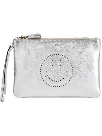 smiley bag clutch grey