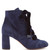 Graphic Leaves lace-up suede ankle boots