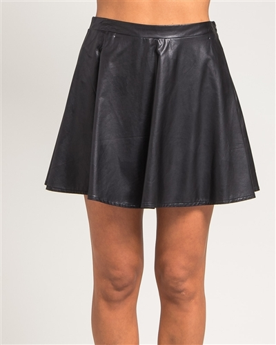 Lethalbeauty ? leather flare skirt