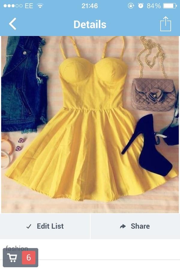 dress yellow strappy yellow dress yellow strappy dress