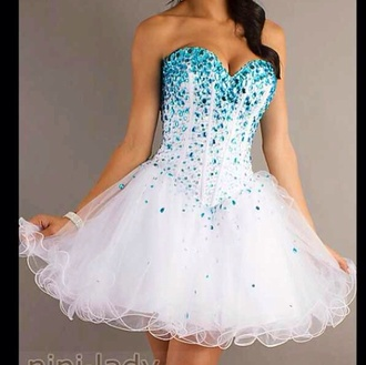 dress white blue rubs mori lee sequin dress corset dress sequins strapless tutu corset turquoise amazing white dress blue sparkles cardigan light blue and white short prom dress homecoming dress blue tooling graduation dress formal