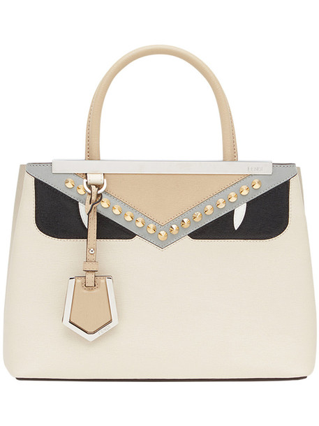 Fendi - 2Jours studded tote - women - Calf Leather/Acrylonitrile Butadiene Styrene (ABS) - One Size, Nude/Neutrals, Calf Leather/Acrylonitrile Butadiene Styrene (ABS)