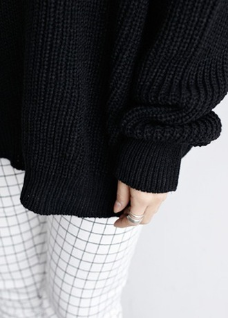 sweater grid black white black and white tumblr grid pattern minimalist