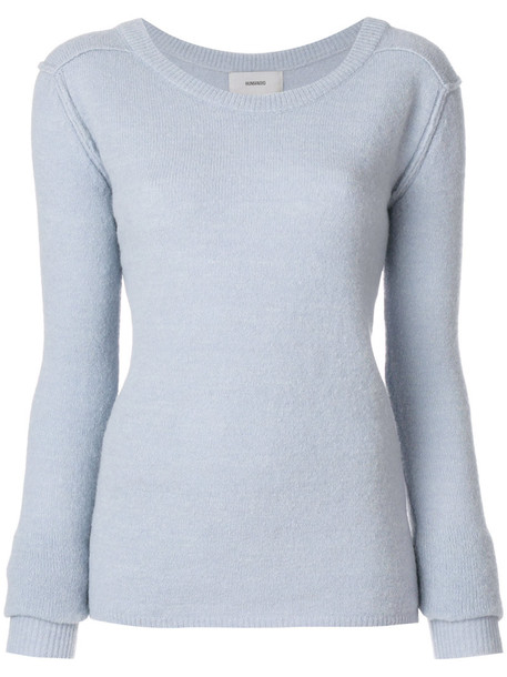 humanoid jumper women spandex blue sweater