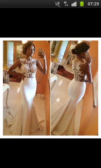 lace dress white dress wedding dress lace