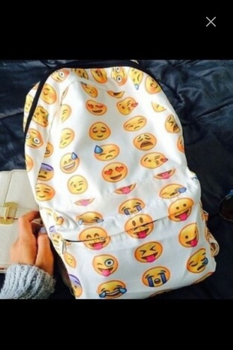 bag smileys yellow pink blue whatsapp emoji