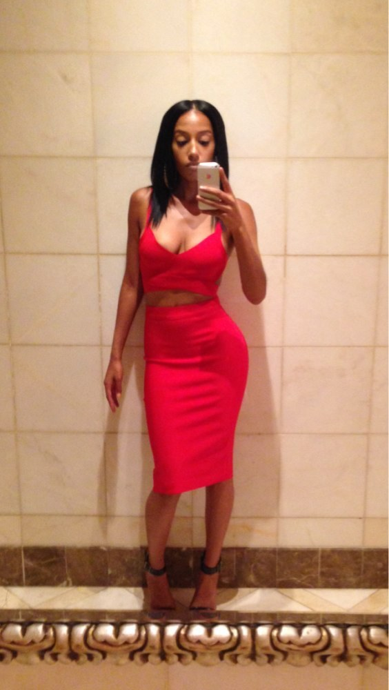 Lethalbeauty ? two piece backless crop top skirt set