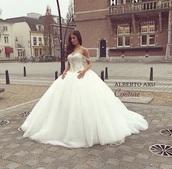 dress,white,wedding,bling,straps,long,long dress,wedding day,wedding dress,wedding dress lace,wedding clothes,princess wedding dresses,vintage wedding dress,bridal gown,2016 wedding dresses