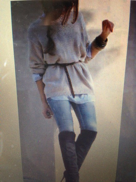 jumper grey nude long sleeves