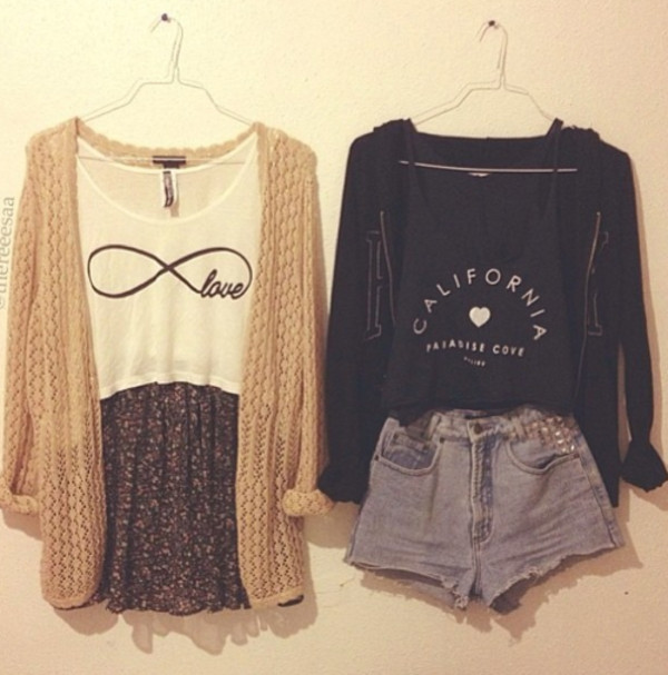 skirt cardigan fall outfits summer fall outfits floral skirt infinity top black cardigan california top shorts sweater sweatshirt california tank top shirt pants flannel blouse t-shirt white black swag hipster boho crop tops top blue california white infinity love shorts skirt cardigan