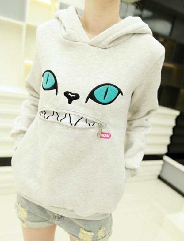 cats kawaii hoodie cats shirt
