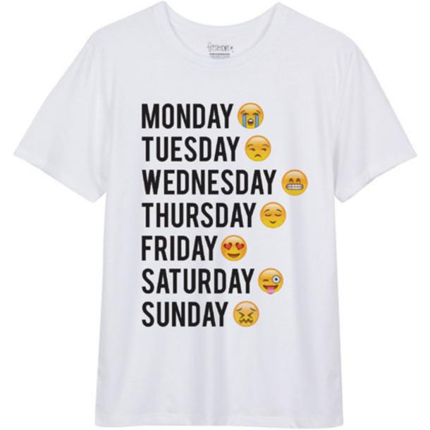 e31d1fd400 t-shirt, emoji print, emoji tee, emojis crop top, funny, funny t ...