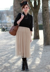 slanelle,bow,tutu,brown skirt,skirt
