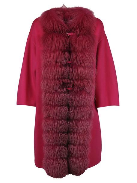 Ermanno Scervino coat fur pink
