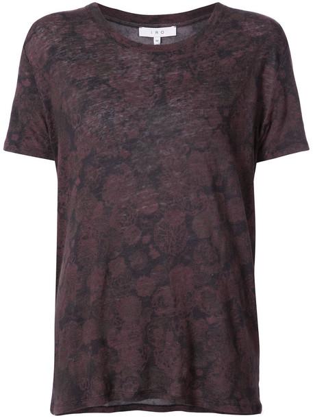 Iro t-shirt shirt t-shirt women floral print brown top