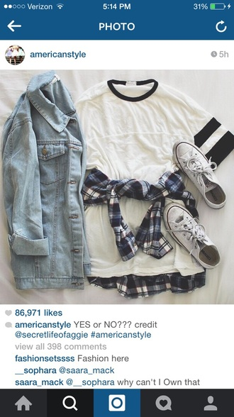 shirt plaid t-shirt hipster hippie shirt dress grunge t-shirt tshirt dress denim jacket jacket shoes blouse