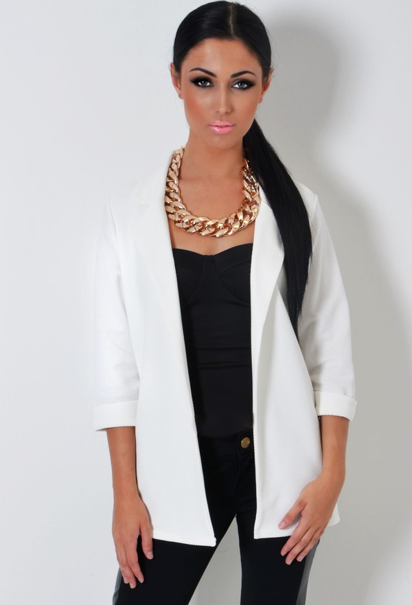 jacket boyfriend blazer off-white