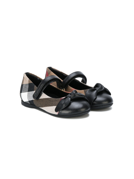 leather cotton black checkered shoes