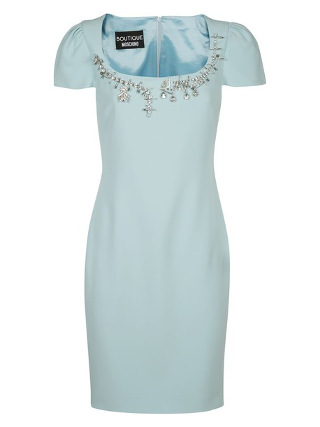BOUTIQUE MOSCHINO dress short dress short light blue light blue