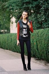 vanessa jackman,jacket,leggings,jeans,shoes,top