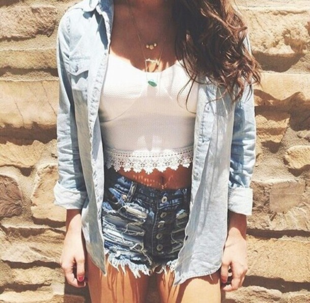 tank top crop tops lace top white