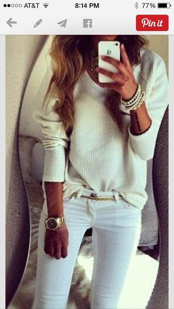 sweater white winter sweater summer outfits cute long sleeves