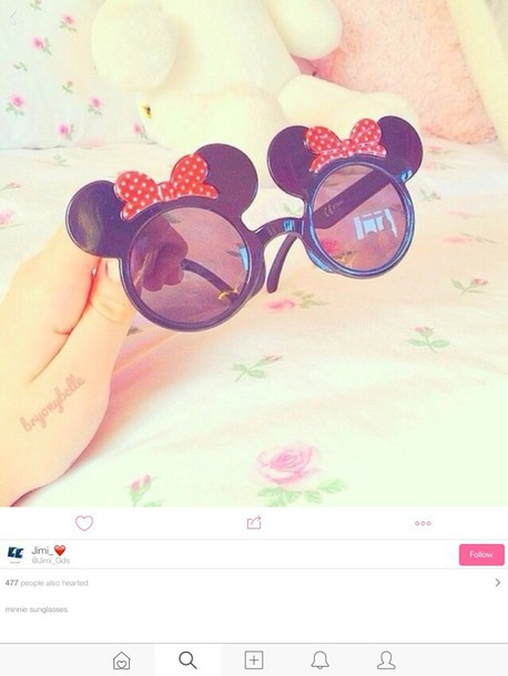sunglasses love glasses minnie mouse minnie mouse