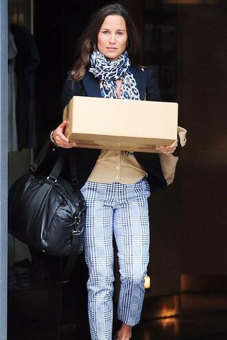 pants pippa middleton blazer jacket scarf