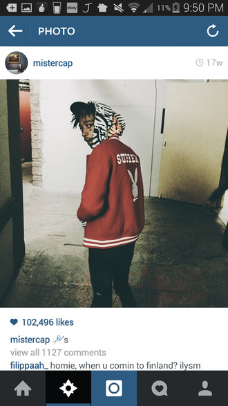 jacket supreme wiz khalifa playboy menswear